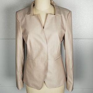 NWOT MaxMara Cream Pearl Wool Silk Blazer 8
